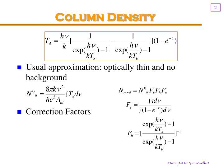 Column Density