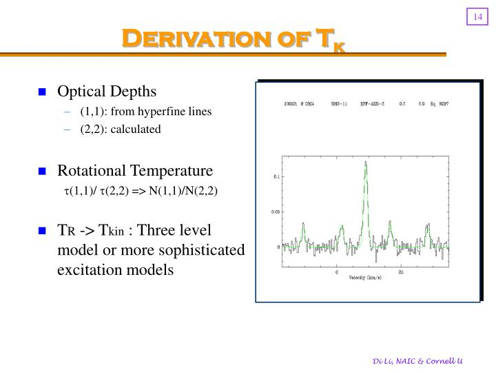 Derivation of T