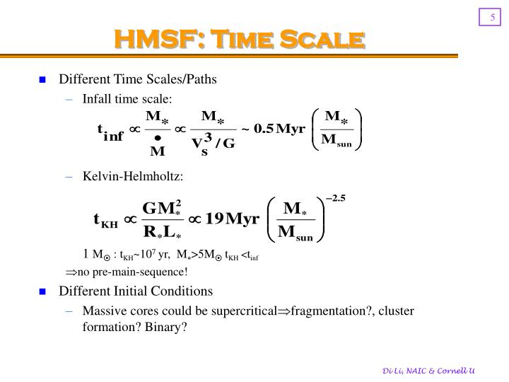 HMSF: Time Scale
