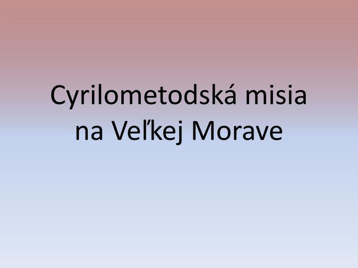 Cyrilometodská misia