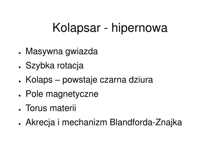 Kolapsar - hipernowa
