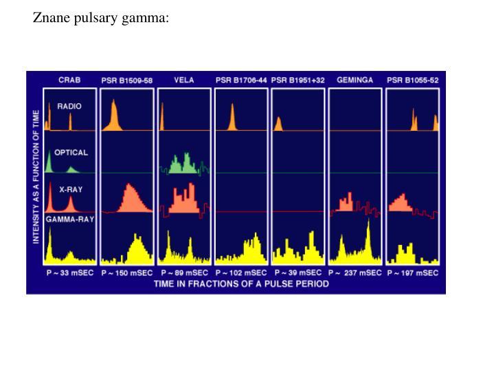 Znane pulsary gamma: