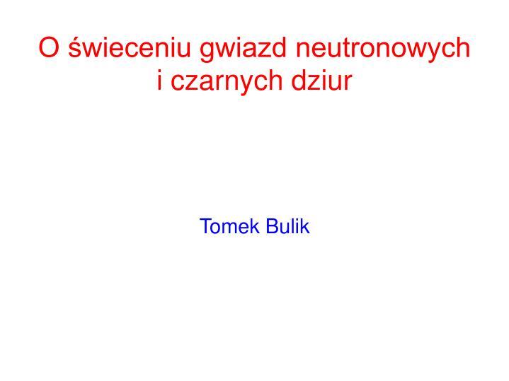 Tomek Bulik