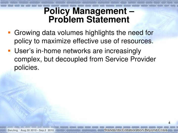 Policy Management –