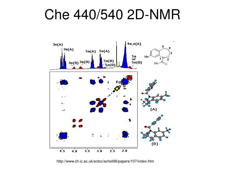 Che 440/540 2D-NMR