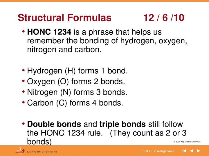 Structural Formulas12 / 6 /10