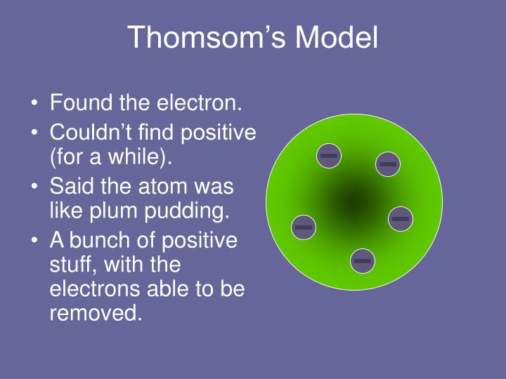 Thomsom's Model