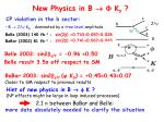 new physics in b k s