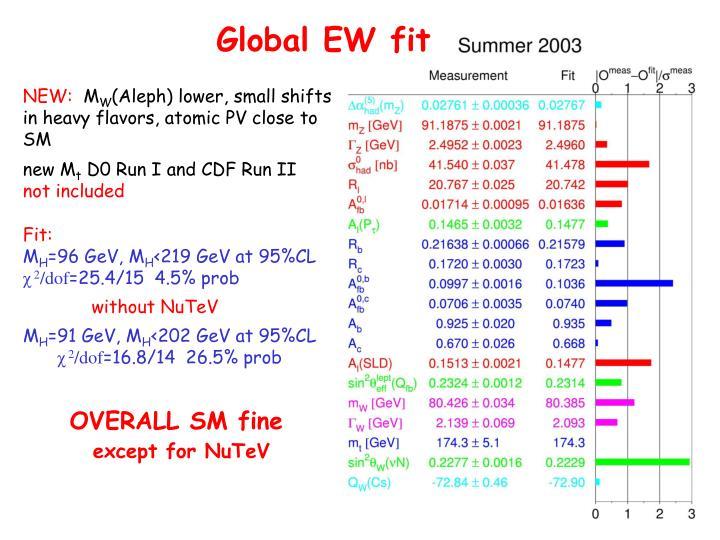 Global EW fit