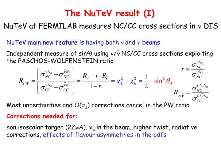 The NuTeV result (I)
