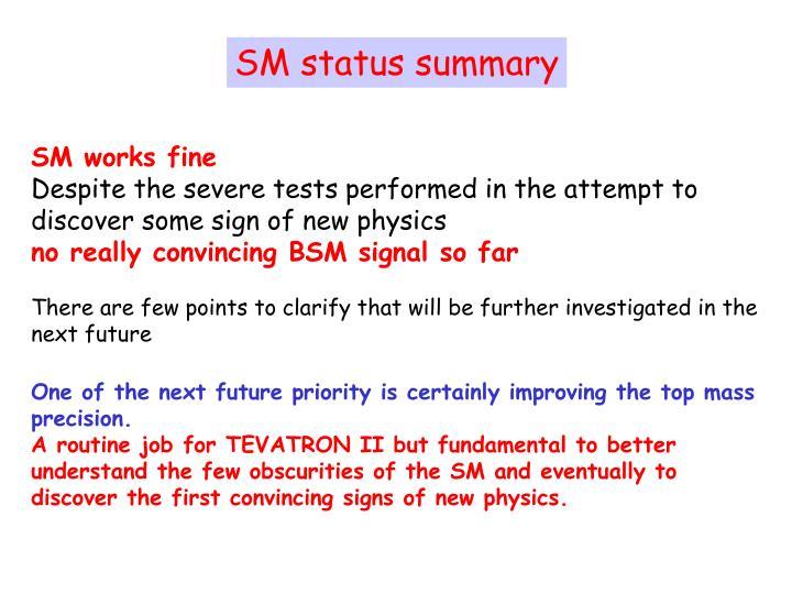 SM status summary