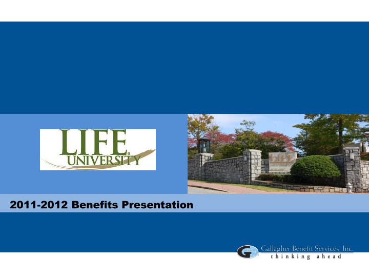 2011 2012 benefits presentation