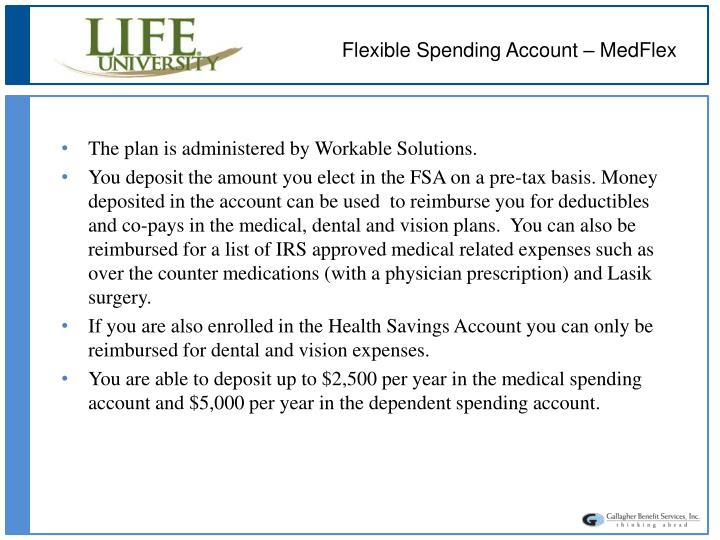 Flexible Spending Account – MedFlex