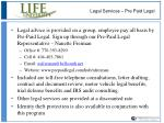 legal services pre paid legal