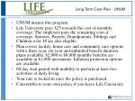 long term care plan unum