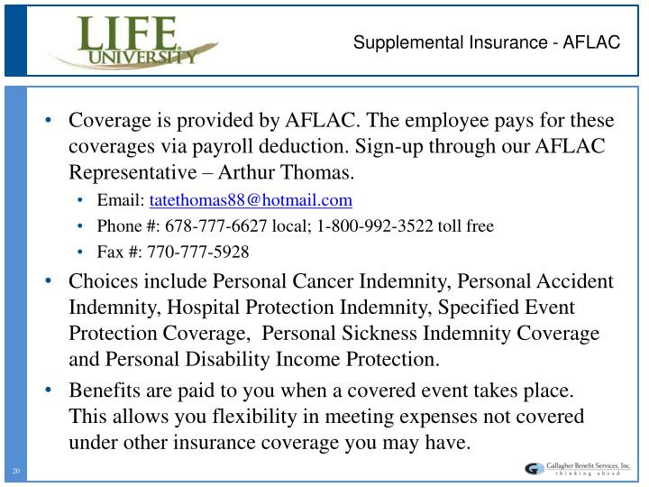 Supplemental Insurance - AFLAC