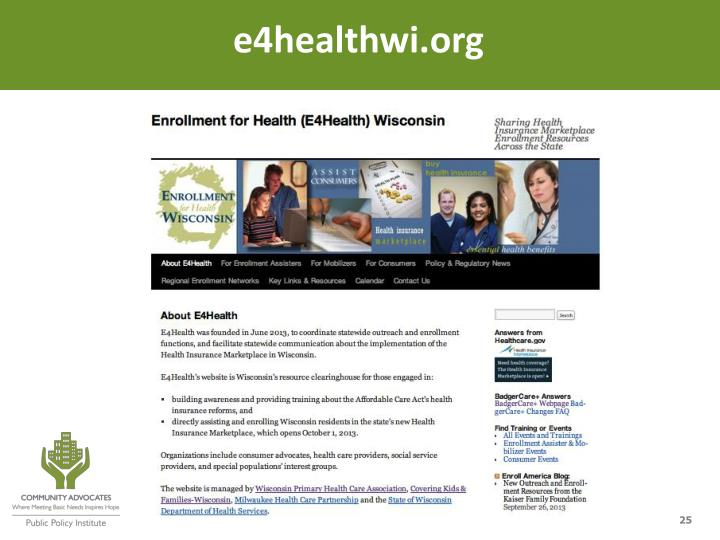 e4healthwi.org