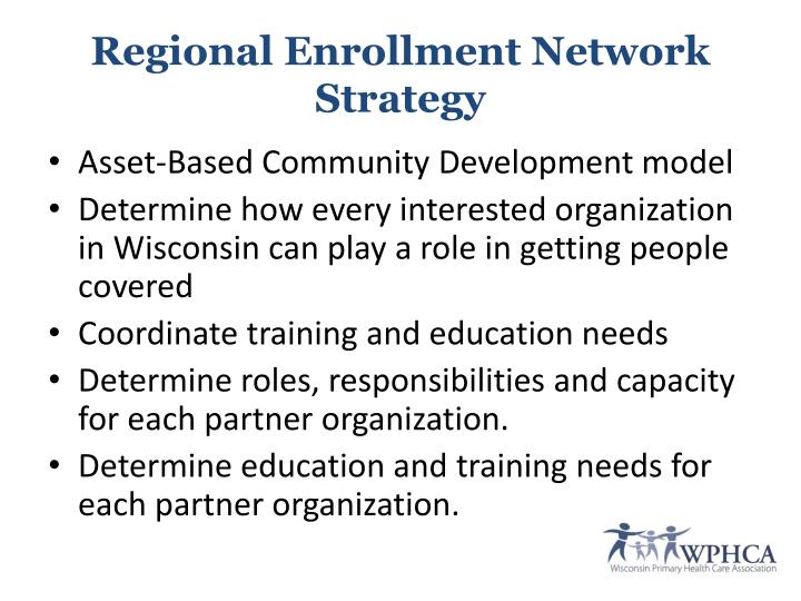 Regional Enrollment Network Strategy