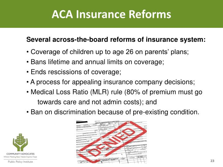 ACA Insurance Reforms