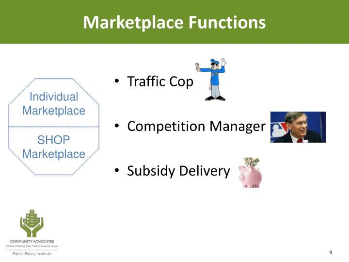 Marketplace Functions