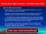 adobe buys macromedia in 3 4bn stock deal