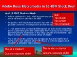 adobe buys macromedia in 3 4bn stock deal1