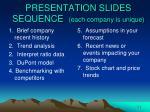 presentation slides sequence each company is unique
