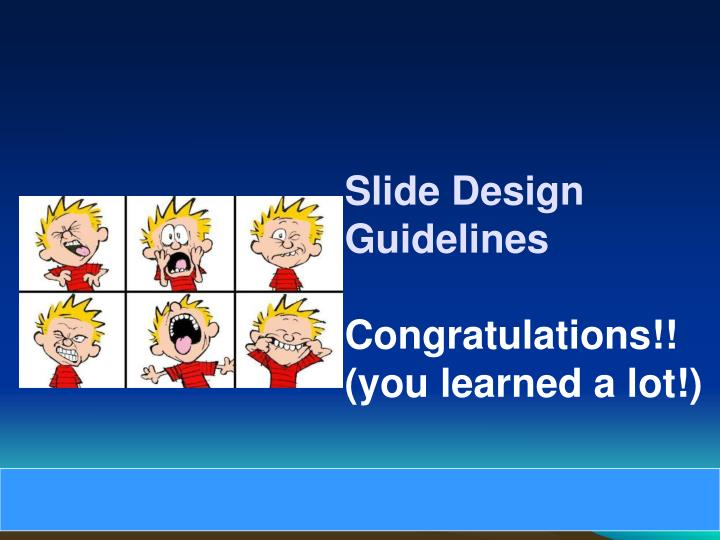 Slide Design Guidelines
