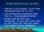 team peer evaluation