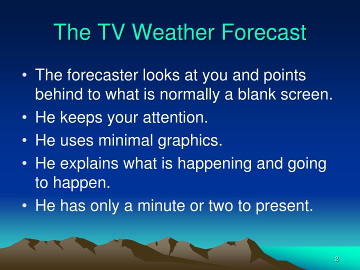The TV Weather Forecast
