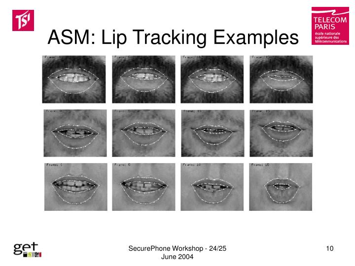 ASM: Lip Tracking Examples