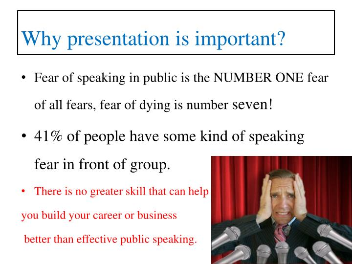 Why presentation is important?