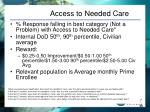 access to needed care