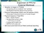 expansion of pps for external workload
