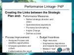 performance linkage p4p