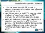 utilization management capitation