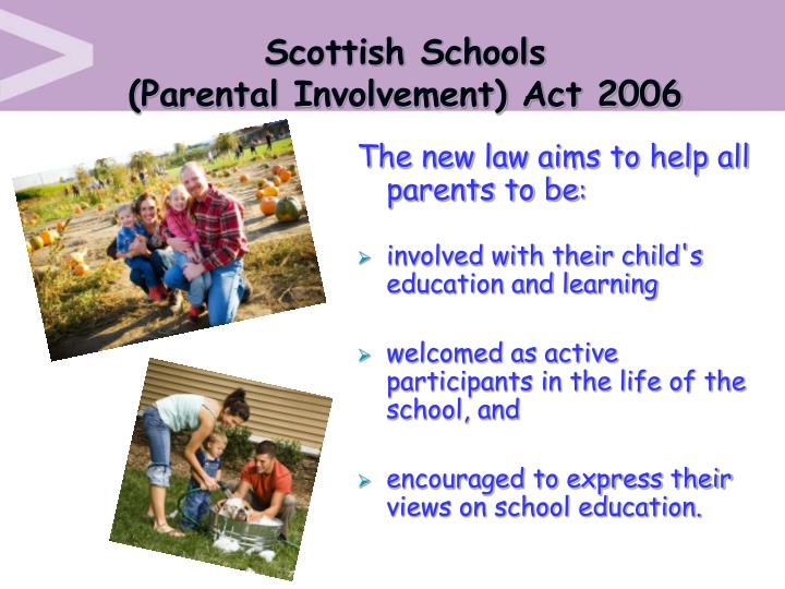 Scottish schools parental involvement act 2006
