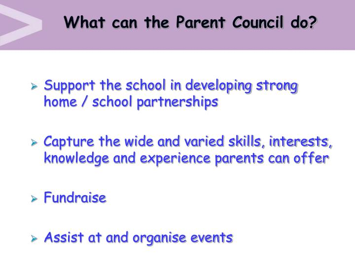 What can the Parent Council do?