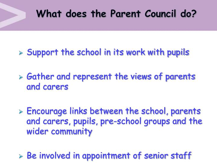 What does the Parent Council do?