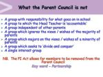 what the parent council is not