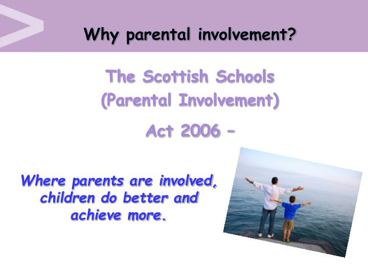Why parental involvement