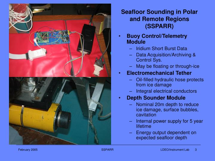 Seafloor sounding in polar and remote regions ssparr