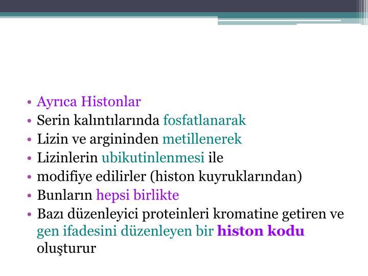 Ayrıca Histonlar
