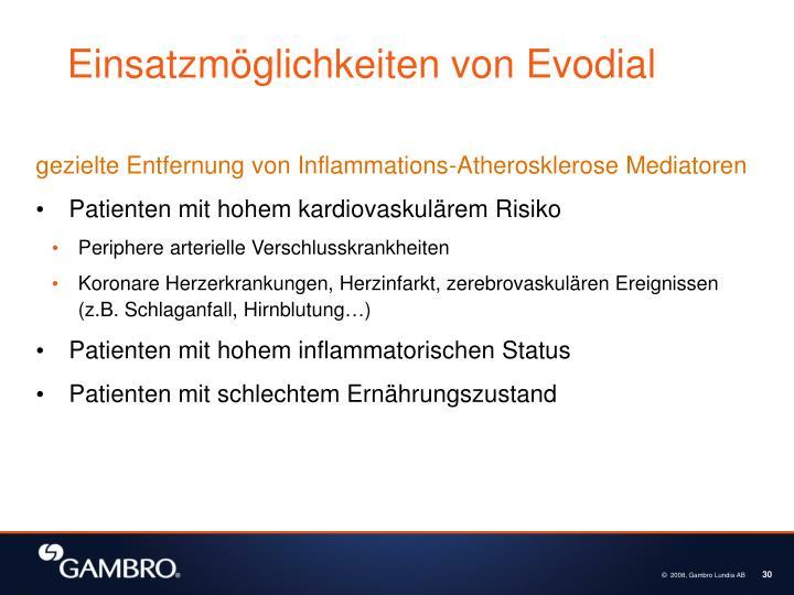 Einsatzmöglichkeiten von Evodial