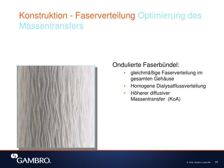 Konstruktion - Faserverteilung