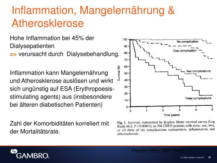 Inflammation, Mangelernährung & Atherosklerose