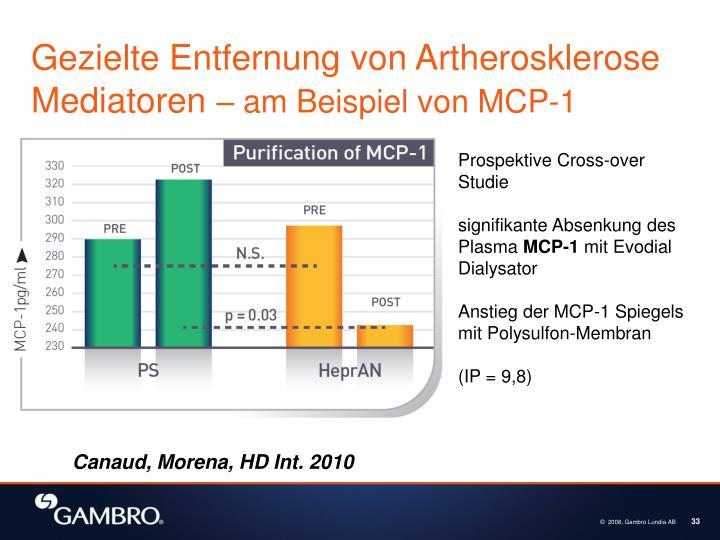 Gezielte Entfernung von Artherosklerose Mediatoren