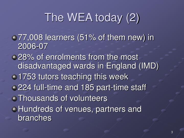 The wea today 2