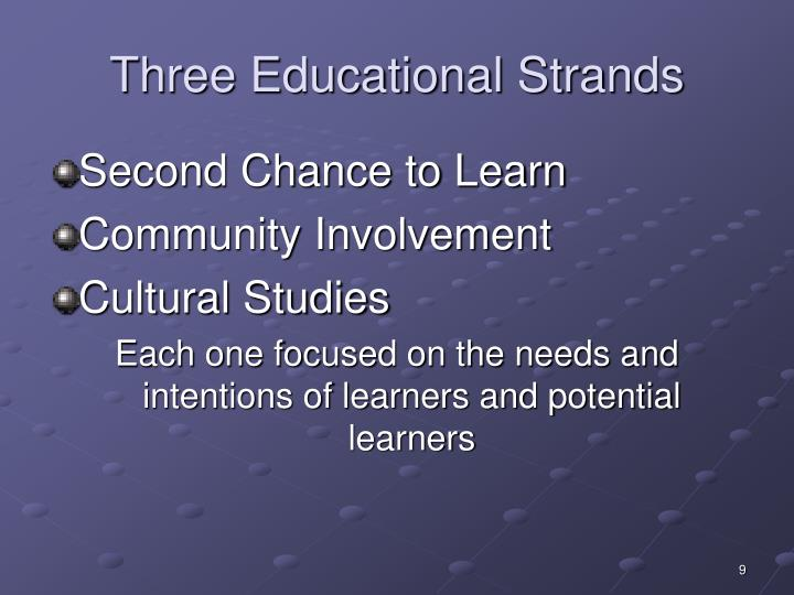 Three Educational Strands