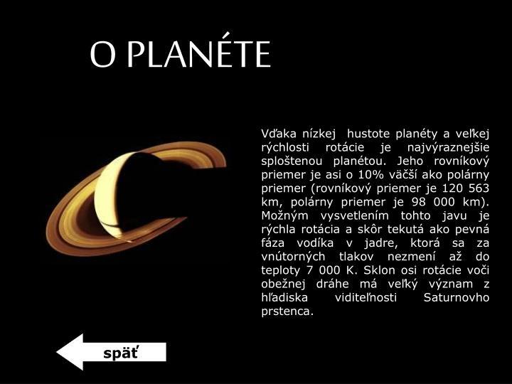 O PLANÉTE